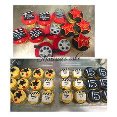 Hollywood Quinceanera cupcakes. Visit us Facebook.com/marissa'scake or www.marissascake.com