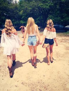 Gracelynn, Addison, and Freya Chantelle's friends Southern Girls, Southern Belle, Country Girls, Southern Prep, Summer Outfits, Cute Outfits, Country Concerts, Country Outfits, Southern Outfits