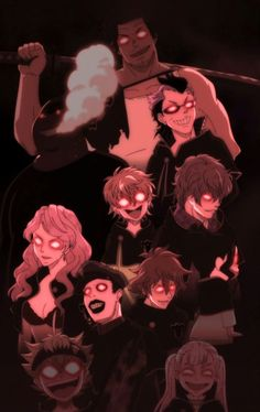 just some crazy ass people Read Black Clover Manga, Black Clover Anime, Black Clover Wallpaper, Anime Demon, Manga Anime, Cover Wallpaper, 3d Fantasy, Estilo Anime, Black Cover