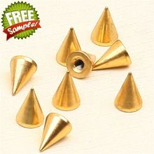 NO.13,14,15,16,17 7X10mm Gold cone screw spikes