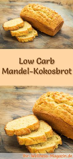 Rezept für Low Carb Mandel-Kokosbrot: Kohlenhydratarm, ohne Getreidemehl, gesun… Low Carb Almond Coconut Bread Recipe: Low carbohydrate, no cereal flour, healthy and well tolerated … carb bake Low Carb Bread, Low Carb Keto, Low Carb Recipes, Baking Recipes, Healthy Recipes, Coconut Bread Recipe, Almond Bread, Law Carb, Tasty