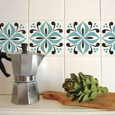 Spice up shower walls, or add a whole row to break up a kitchen backsplash, with easy to apply and removable vinyl stickers that withstand moisture, heat, and plenty of splashes. | Photo: Wendell T. Webber | thisoldhouse.com