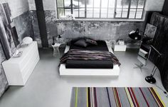 Modern bedroom furniture - Quality from BoConcept - 2012 Boconcept, Sofa Design, White Lacquer Bedroom Furniture, Grey Bedroom Set, Modern Bedroom, Loft Stil, Style Loft, Shop Interiors, Furniture Inspiration