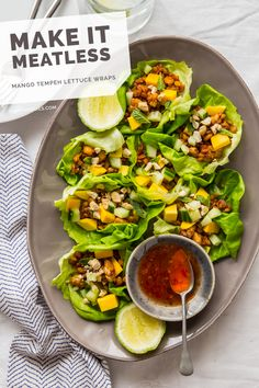 Mango Tempeh Lettuce Wraps