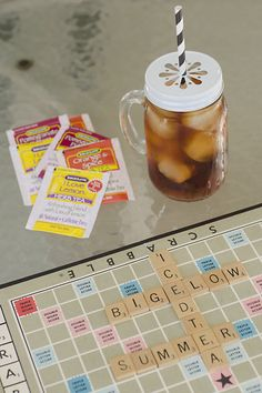 Summer is made for Bigelow iced tea and Scrabble games. #MeandMyTea #ad @BigelowTea