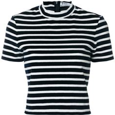 T By Alexander Wang horizontal stripe T-shirt ($305) ❤ liked on Polyvore featuring tops, t-shirts, blue, horizontal striped t shirt, tailored t shirts, blue tee, blue t shirt and t by alexander wang t shirt