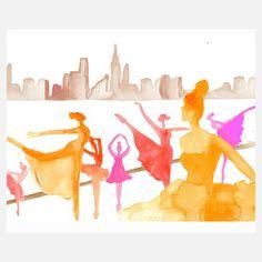"""Gayle Kabaker """"Dancers in NYC"""" print"""