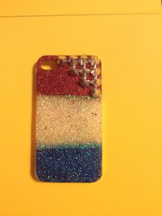 Red, white and blue glitter iPhone 4 case by GlitterGalsPhoneCase on Etsy https://www.etsy.com/listing/199274550/red-white-and-blue-glitter-iphone-4-case