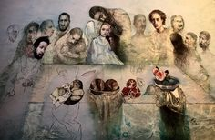 Katarina Vavrova artist Last supper detail