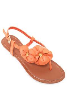 Orange flower sandal
