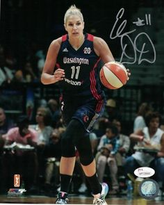 fa72fba3e0af Elena Delle Donne Autographed Washington Mystics 8x10 Photo Blue JSA