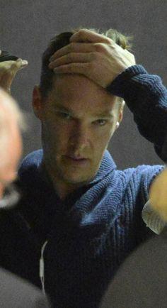 Benedict Cumberbatch, looking exasperated.