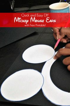 If you need Mickey Mouse party ears, this is an easy DIY project with clear instructions and a free printable Mickey Mouse Ear template. Just add black card stock and pipe cleaners and you're on your way to a great Mickey Mouse party adventure. Let the kids customize and enjoy.
