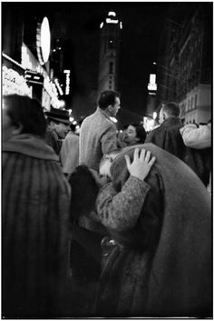 Henri Cartier-Bresson New Year's eve. Times Square. Manhattan. New York City. USA (1959)