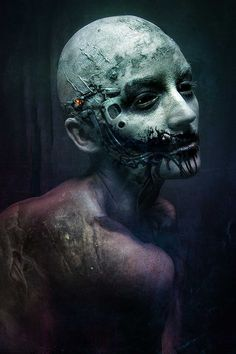 Futuristic Nightmare Creations Come To Life In Fantasy Portraits by Stefan Gesell #inspiration #photography