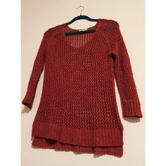Lucky brand sweater Big knit sweater. Salmony/coral color Lucky Brand Sweaters V-Necks