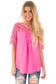Lime Lush Boutique - Fuchsia Pleated Crochet Lace Detail Top, $36.99 (http://www.limelush.com/fuchsia-pleated-crochet-lace-detail-top/)#lovefashion #new #Spring #fashionblog #instafashion #photomodel #beauty #trend #queen #day #us #follow #girl #dress #princess #look #lookbook #like #beautiful #cute #sexy #iphonesia