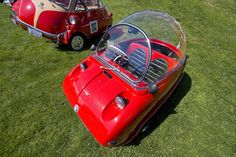 Concours #1 - Tiny car with Isetta 300 beside it by Mark Interrante (aka pinhole), via Flickr