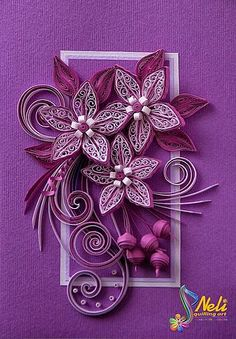 Neli is a talented quilling artist from Bulgaria. Her unique quilling cards bring joy to people around the world. Neli Quilling, Quilling Work, Quilled Paper Art, Quilling Paper Craft, Paper Crafts, Diy Paper, Paper Quilling For Beginners, Quilling Techniques, Quilling Patterns