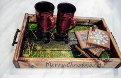 Hand Painted Signs, Merry Christmas, Decor, Merry Little Christmas, Decoration, Wish You Merry Christmas, Decorating, Deco