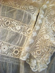 Irish crochet lace Z Lace Ribbon, Lace Ruffle, Lace Fabric, Ruffles, Antique Lace, Vintage Lace, Irish Crochet, Crochet Lace, Pearl And Lace
