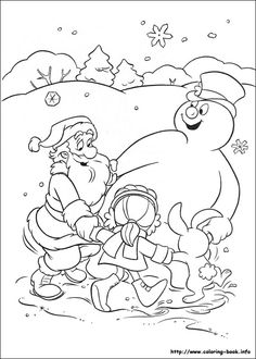 frosty the snowman coloring picture coloring pages pinterest