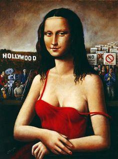 Rafal Olbinski - Mona Lisa