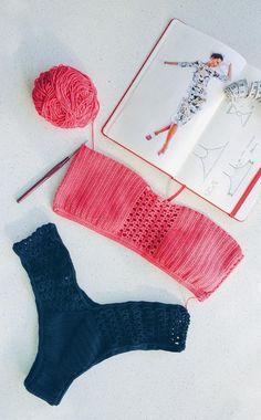 40 Best Free Crochet Bikini Patterns 2019 - Page 11 of 46 - womenselegance. Crochet Bikini Pattern Free, Crochet Bikini Top, Crochet Blouse, Free Crochet, Crochet Patterns, African Swimwear, Crochet Bathing Suits, Beginner Crochet Projects, Crochet Supplies