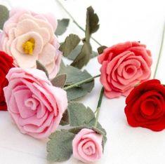 Como fazer Rosas em feltro passo a passo