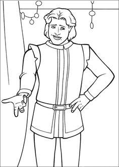 Dibujos para Colorear Shrek 9