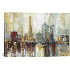iCanvas Paris Icons Wrapped Canvas (€54) ❤ liked on Polyvore featuring home, home decor, wall art, paris wall art, canvas wall art, parisian wall art, paris canvas wall art and parisian home decor