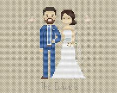 Wedding Cotton anniversary Third anniversary 3 year by Xrestyk Cross Stitching, Cross Stitch Embroidery, Cross Stitch Family, Cross Pictures, Wedding Cross Stitch Patterns, Cotton Anniversary Gifts, Cotton Gifts, Couture, Third Anniversary