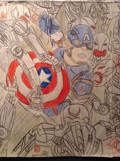 Capitaine america A2 Drawings, Painting, Ideas, Art, Sketches, Craft Art, Paintings, Sketch, Kunst