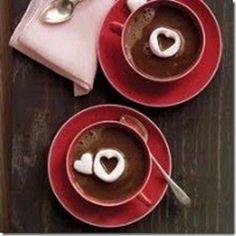 cocoa with heart marshmallows