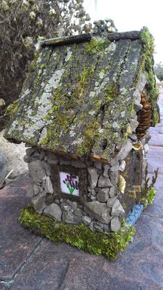 Make a Stone House for Gnomes, Hobbits, Elves or Trolls how cute.