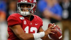 Tua Tagovailoa selected by Miami Dolphins as overall pick in NFL Draft; Auburn's Derrick Brown picked by the Panthers Auburn Football, Alabama Football, Derrick Brown, Lineman, Cleveland Browns, Miami Dolphins, Carolina Panthers, Crimson Tide, Football Helmets