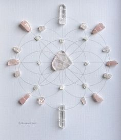 BALANCE SUPPORT LOVE framed sacred crystal grid by CrystalGrids, $159.00