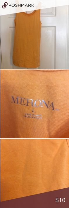 Orange Tank Top Good Used Condition • fabric shows some wear • may show pilling   • Offers Welcome • Bundle Discounts  • Suggested User • Fast Shipper Merona Tops Tank Tops