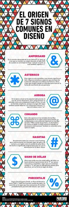 Origen de 7 signos comunes en Diseño #infografia #infographic #design http://ticsyformacion.com/2015/10/26/origen-de-7-signos-comunes-en-diseno-infografia-infographic-design …