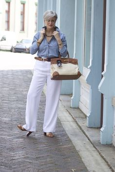 clothes for women,womens clothing,womens fashion,womans clothes outfits Over 60 Fashion, Over 50 Womens Fashion, 50 Fashion, Blue Fashion, Fashion Outfits, Fashion Tips, Fashion Trends, Ladies Fashion, Fashion Stores