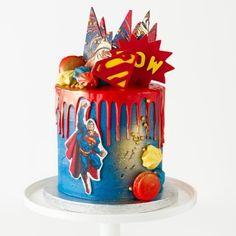 Superman cake Cakes To Make, Cakes For Boys, How To Make Cake, Ben 10 Cake, Superman Cakes, Sonic Party, Superman Birthday, Super Man, Superhero Cake