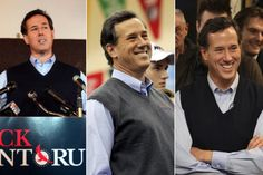 """No GOP candidate is as sartorially distinct as former senator Rick Santorum, who made """"sweater vest"""" into a trending topic practically overnight. The second-place Iowa finisher showed off a series of vests on the trail—perhaps to evoke a warm and fuzzy appearance."""