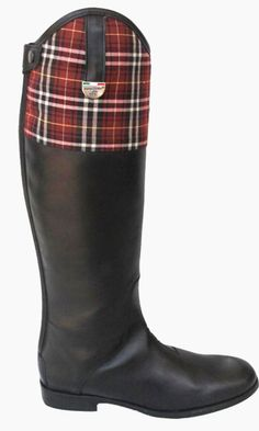riding boots with tartan detail!