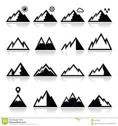 mountain silhouette - Google Search