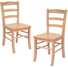 Hannah Ladder Back Chairs - Set of 2, Light Oak