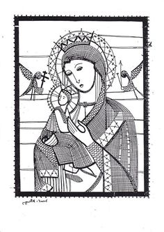 Bobbin lace madonna and child Madonna, Fillet Crochet, Bobbin Lace Patterns, Lace Heart, Point Lace, Lace Jewelry, Needle Lace, Cat Pattern, Lace Making