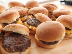 Smashed Burgers : Just as their name suggests, these burgers are smashed flat as they cook, and they take just a few minutes to prepare. After flipping the patties, Ree blankets them with American cheese before serving them with classic burger fixings.