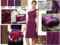 Inspiration Board - Plum, Burgundy and Gold - LOISLOVESCLARK's Purple Wedding by Color Blog