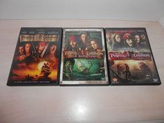 Pirates of the Caribbean Trilogy (DVD, 4-Disc Set) JOHNNY DEPP