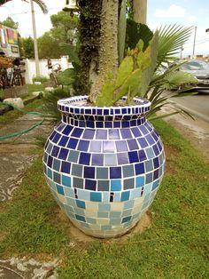 maceta mosaico, mediterranea